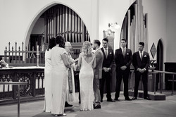 Up at the altar
