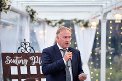 Groom's dad gives speech