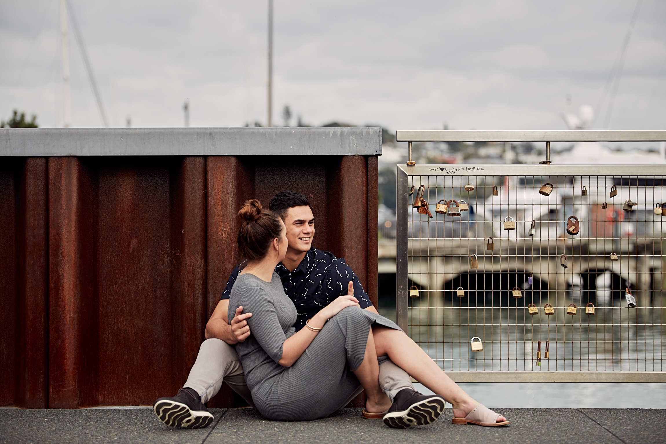 Auckland city engagement shoot