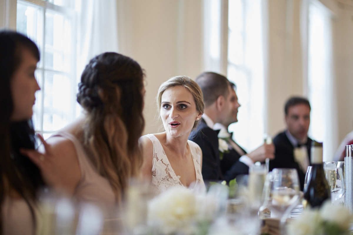 bride talking