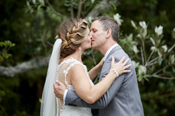 The wedding kiss to seal the deal
