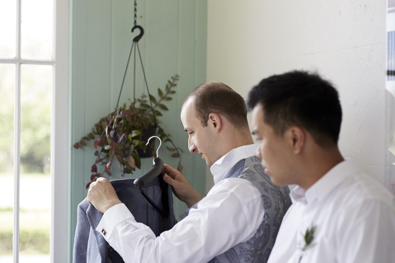 groom arrives