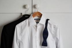 grooms suit and shirt