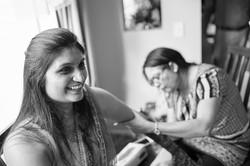 bride getting henna