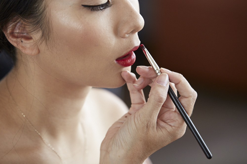 lipstick for bride