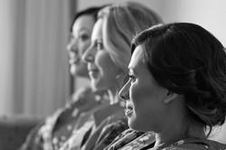 bridesmaids sitting down