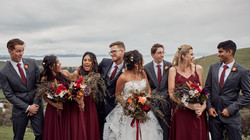 Bridal party on the deck