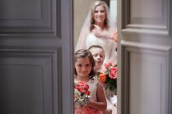 glimpse of the bride