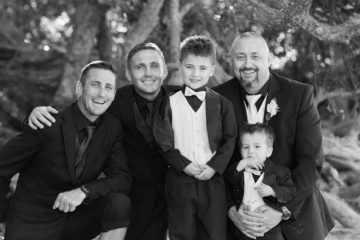 groom with his lads