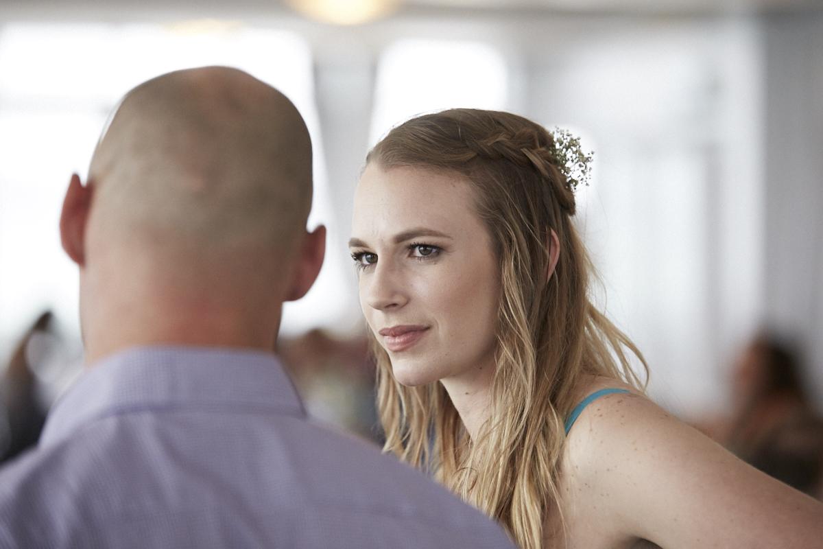 candid wedding moment