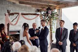 Wedding ceremony at Kauri Bay