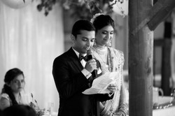 groom gives speech