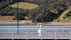 Bride on the wharf
