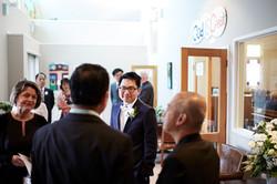 the groom at church