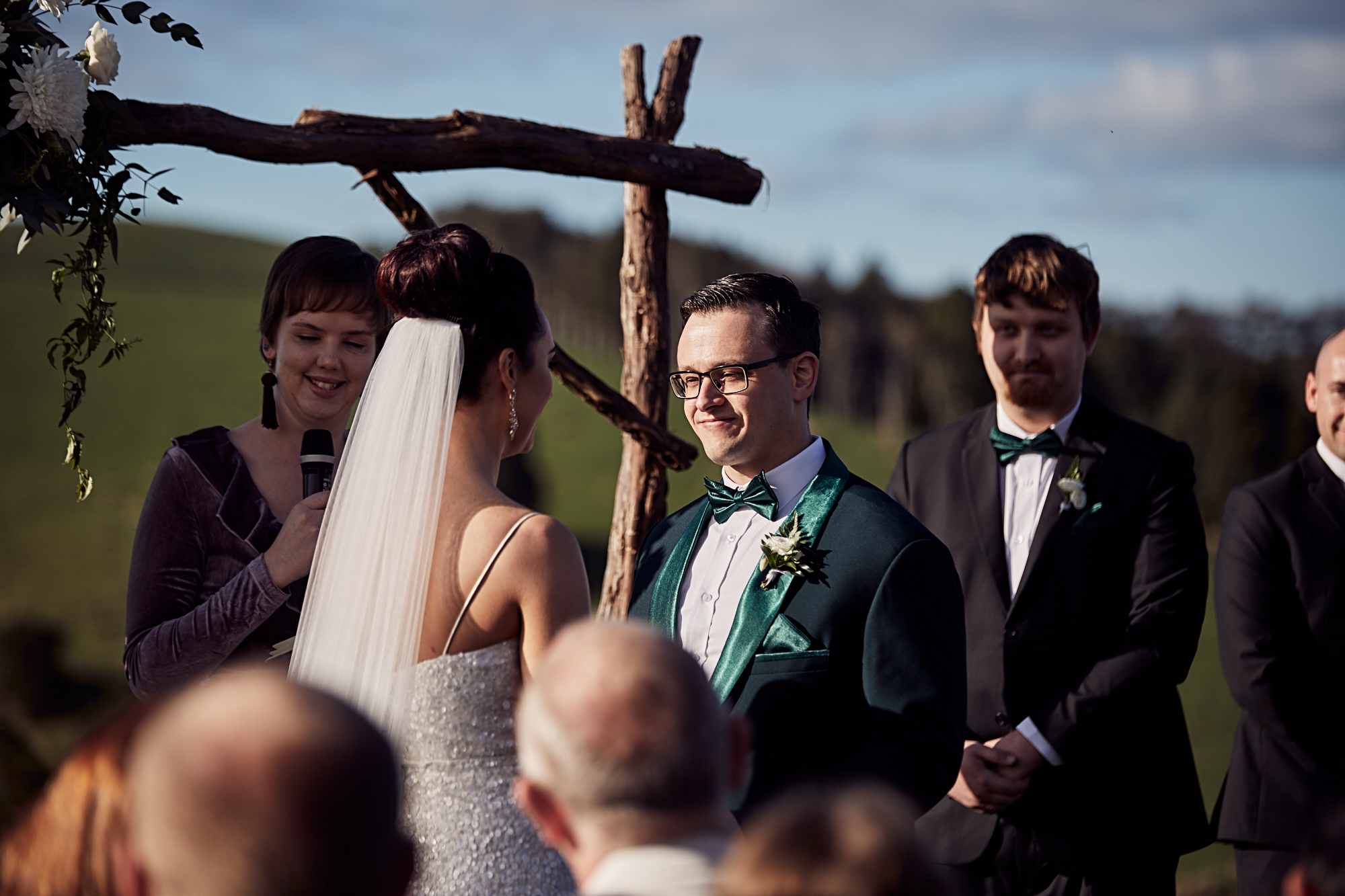 Wedding ceremony at Kauri Bay