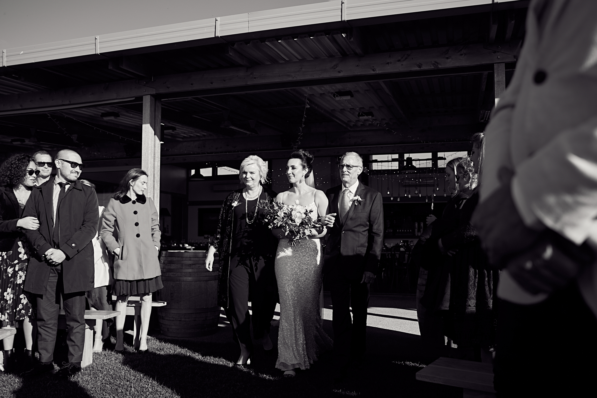 Stunning bride with parents