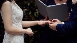 Wedding rings exchanged