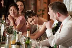 bride has a quick look