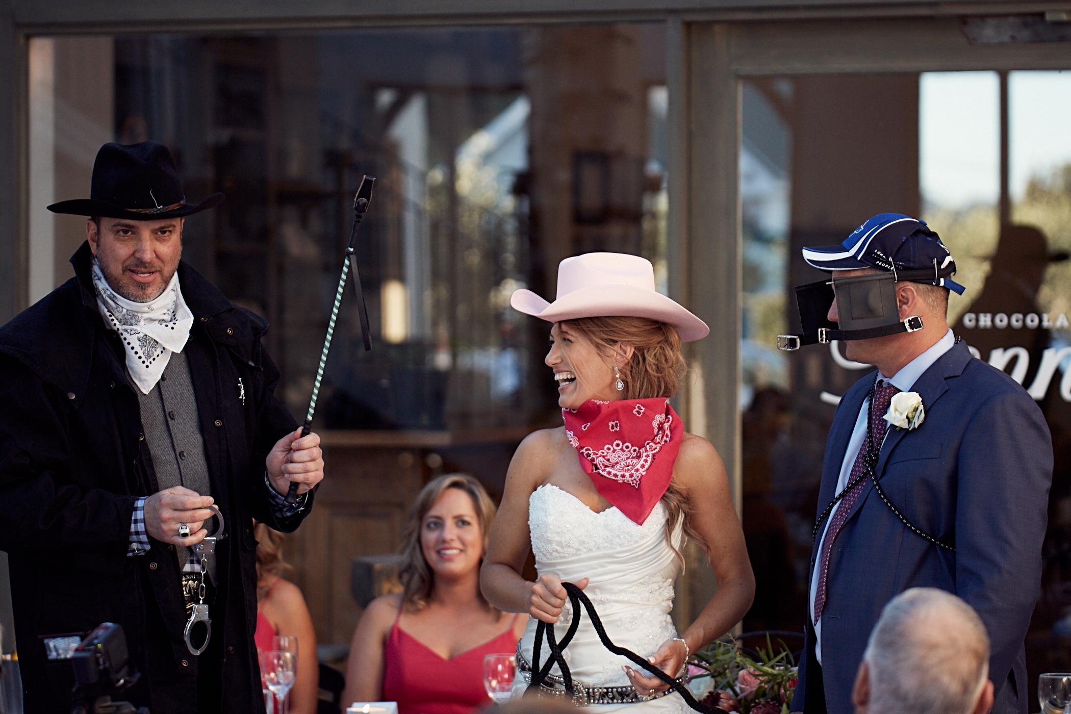 Fun wedding moment