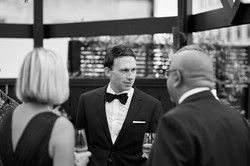 groom chatting