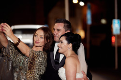selfie with newlyweds
