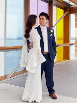 Colourful wedding backdrop