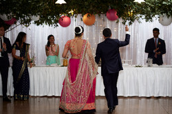 bride and groom return