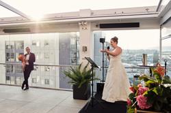 Bride gives her speech