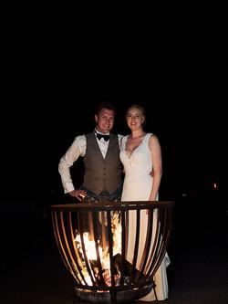 The newlyweds outside Bracu