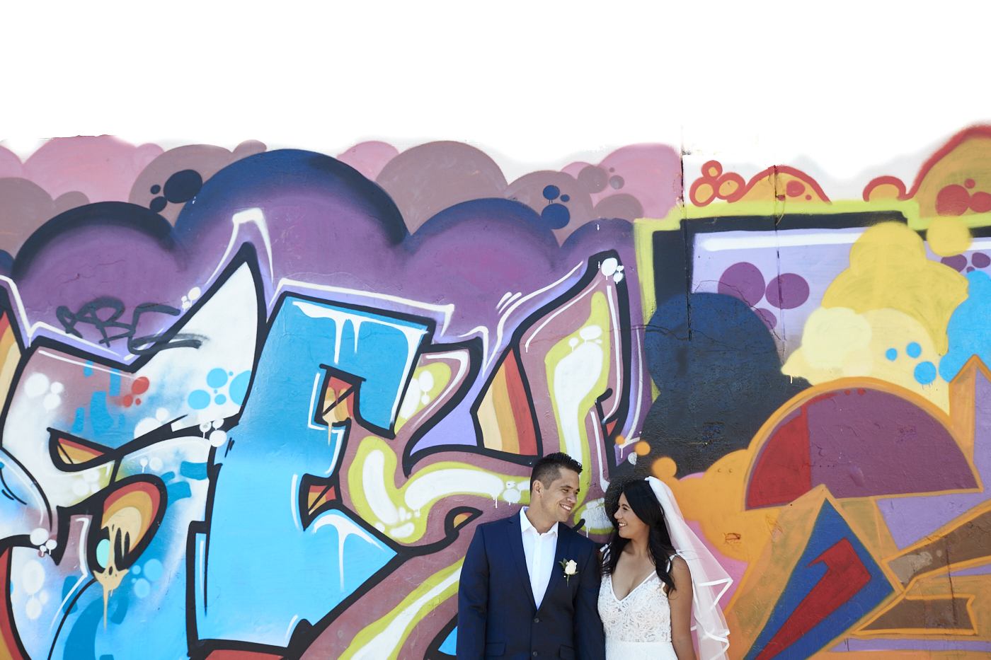 graffiti wall backdrop for wedding