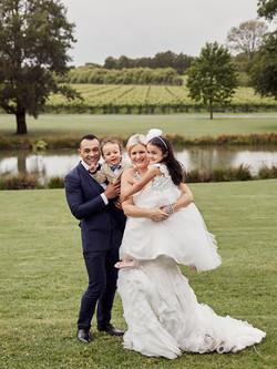 family shot at wedding