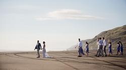 Black sand beach wedding