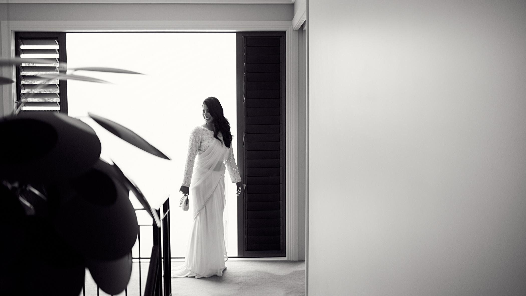 creative shot of bride