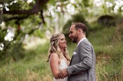 wedding photo of the couple