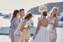 bridesmaid candid photo