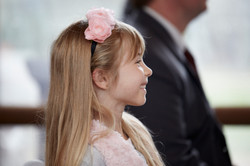 girl watching the ceremony