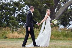 bride leads groom