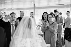 guests welcome back newlyweds