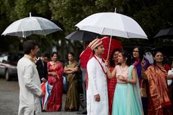 raining at wedding