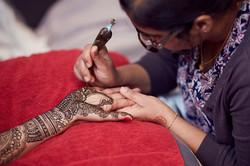henna session for bride
