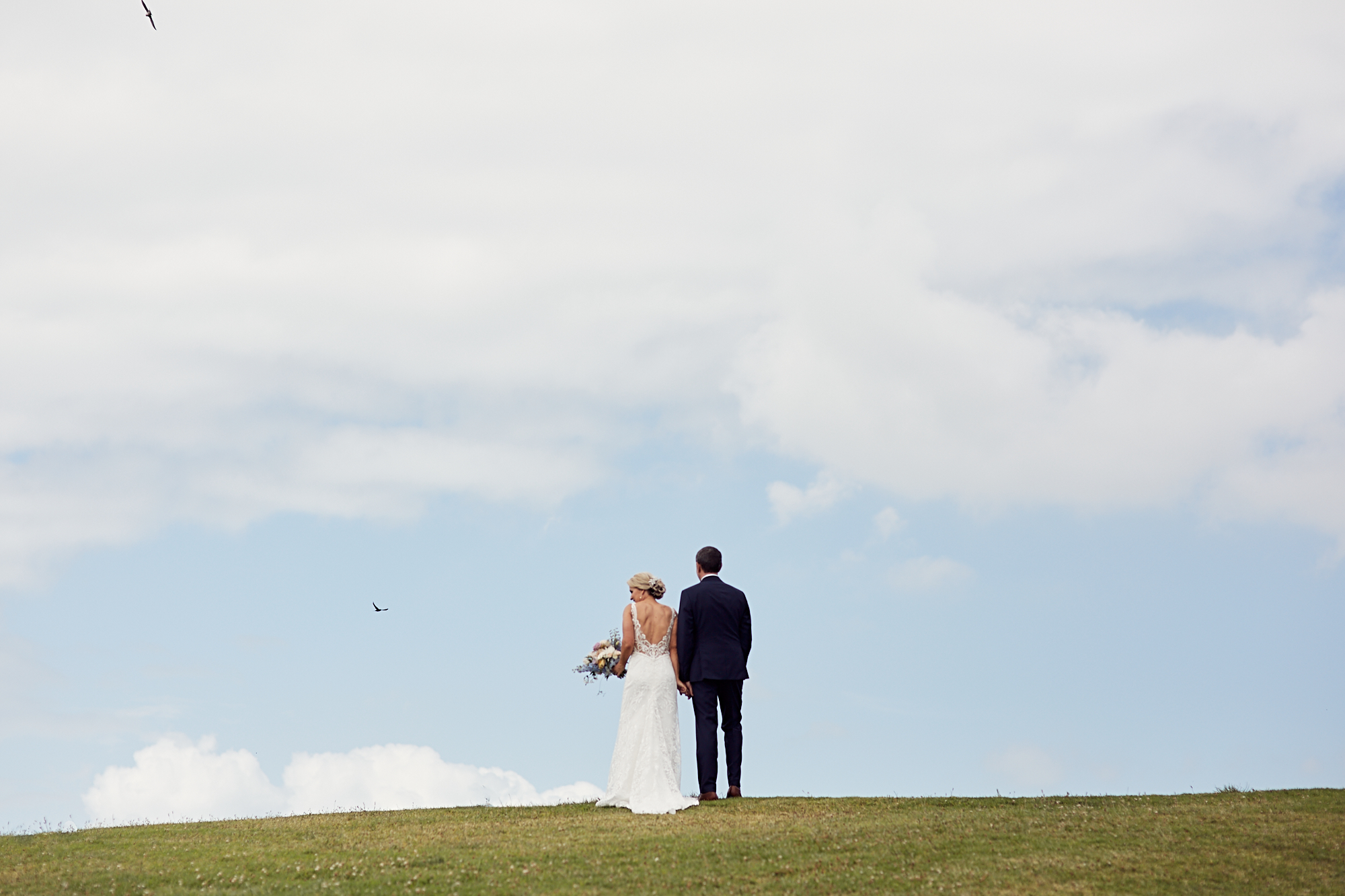 Big sky wedding shot