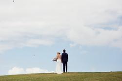 Big sky wedding shot