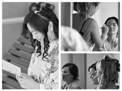 montage of bride