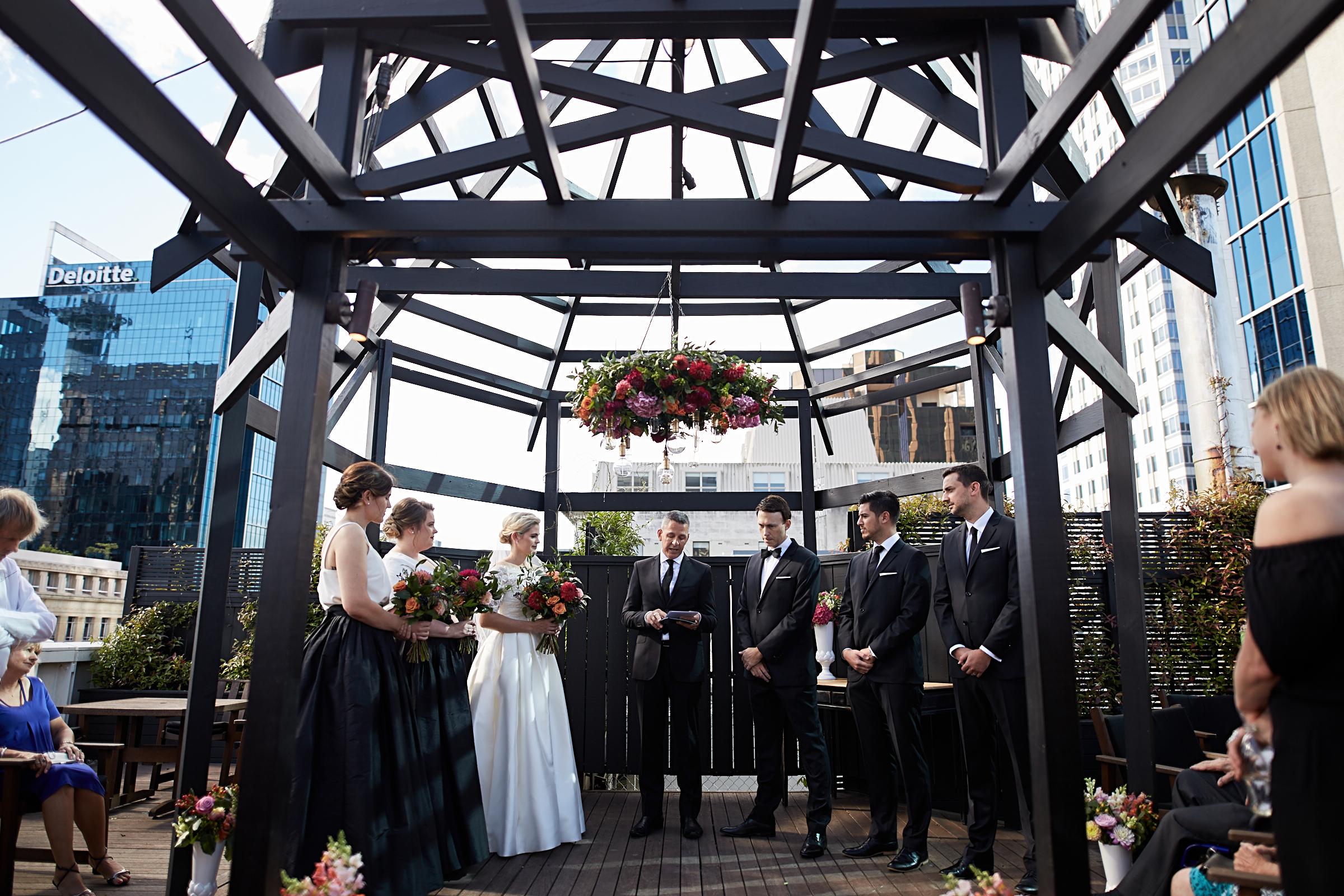 Rooftop wedding Auckland