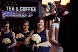 Bridesmaid at wedding