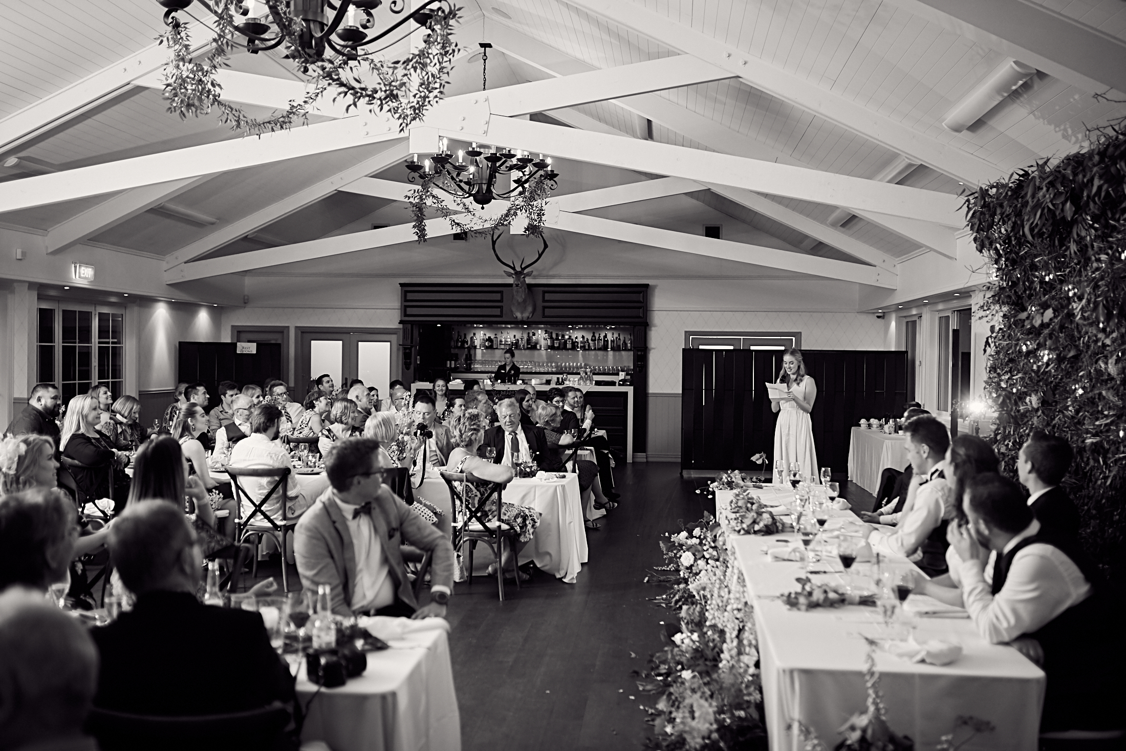 Bridesmaid give speech