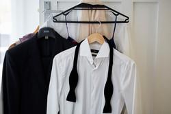 clothes hanging on door