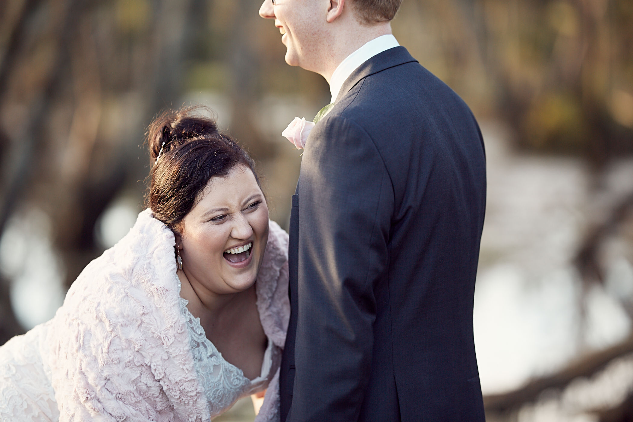 Wedding day laughter