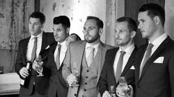 classic wedding of groom