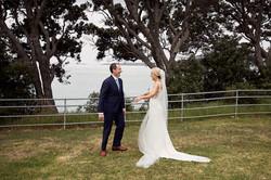Emotional wedding moment